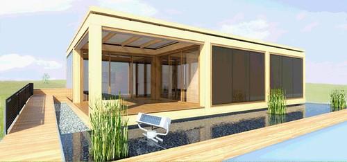 Фасад энергоэффективного строения сделан с использованием технологии компании Lucido