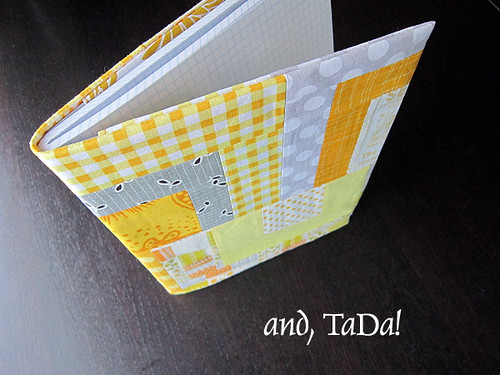Quilted Composition Book Cover Pattern ~ In a dry and thirsty land doing not just pinning