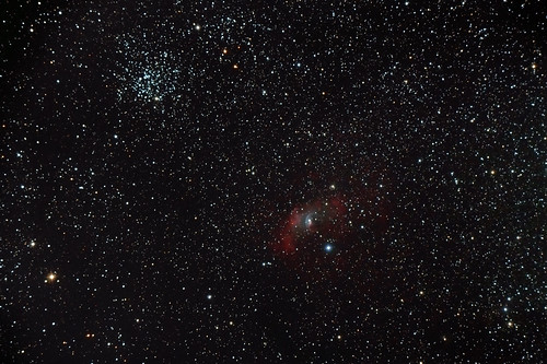 Bubble Nebula + M52