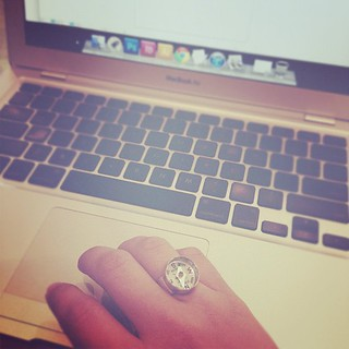 Wearing one of my faves! #compass #ring