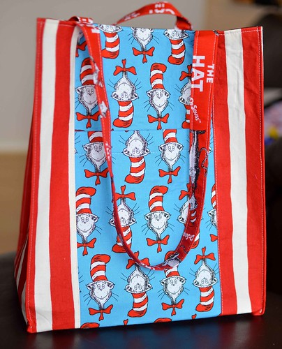 cat in the hat jane market bag