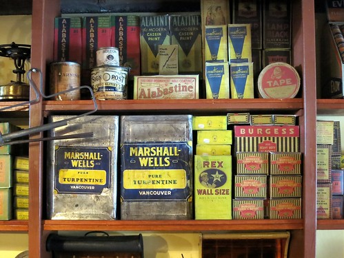 Paint and turpentine in the general store