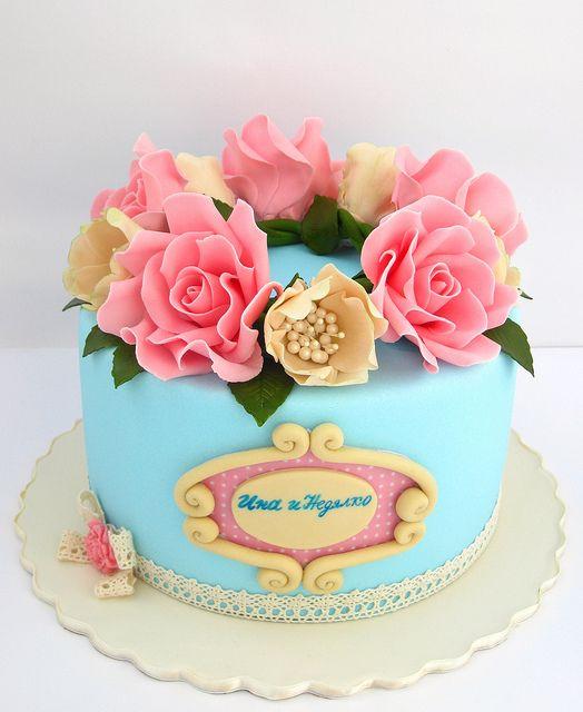 Beautiful Wedding Cake by Mina Bakalova