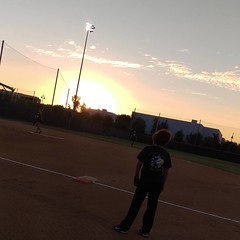 #sunsets and #softball great night for a game, and a victory none the less!!! I was 5 for 5 on hitting, got on base 4 of those times, and scored once... everyone was so impressed with my hitting tonight, my game was on point!!! Most of my success tonight