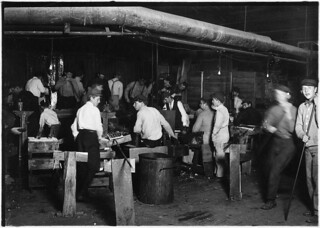 A midnight scene in More-Jonas Works. See small snapper up boy in left of photo. Bridgeton, N.J., November 1909
