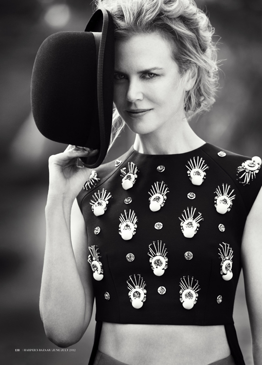 Editorial – Harper's Bazaar Australia, June/July 12 – Nicole Kidman by Will Davidson and styling by Jillian Davison