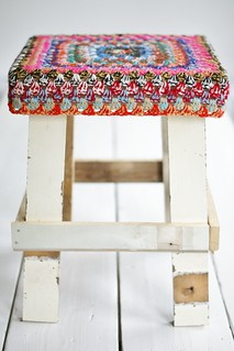 wood & twine wool stool
