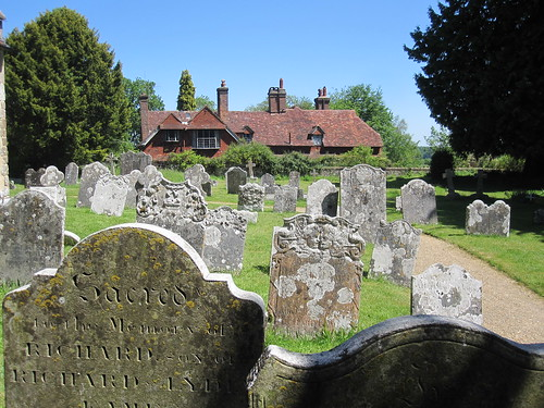 Gravestones in Steep Churchyard