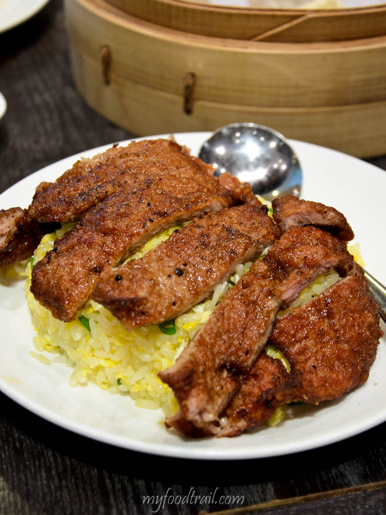 Din Tai Fung, Singapore - Pork chop on fried rice
