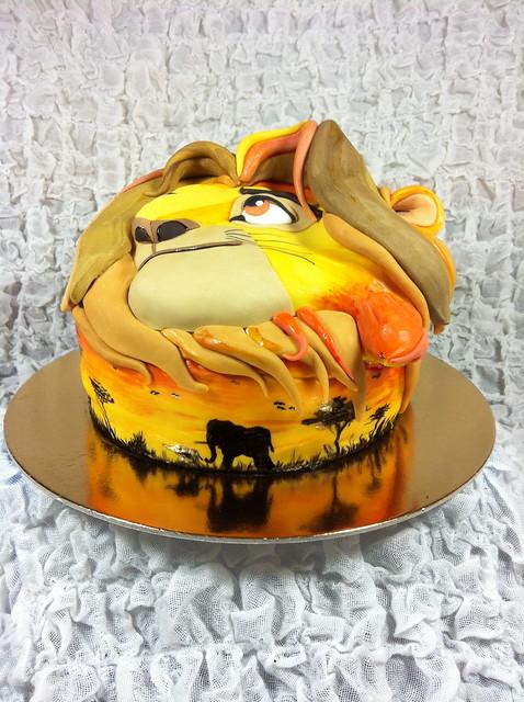 Lion King Ice Cream Cake