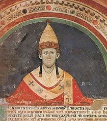 a painting of Pope Innocent III