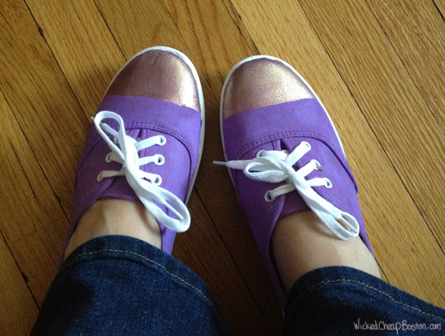 DIY colorblock sneakers