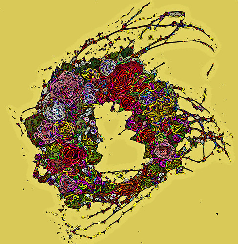 Rendering of pre-existing wreath by Sultry on the move, but stuck in a hotel