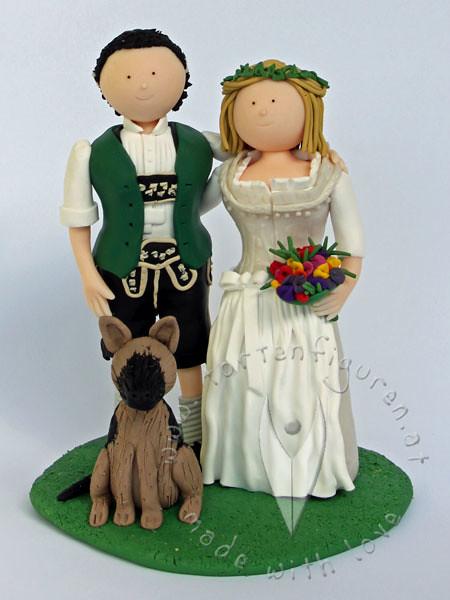 Deko Bayrisch Selbstgemacht : Trachten Brautpaar mit Hund  Explore ♥ Yvi`s Torten & Torte