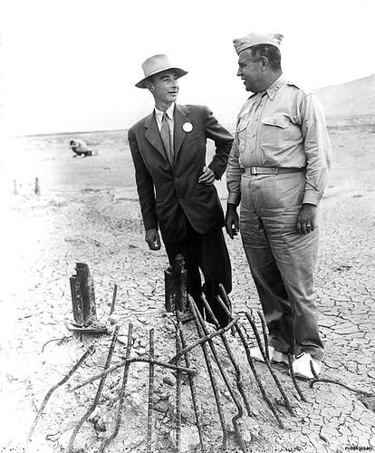 Groves and Oppenheimer 9-11-45