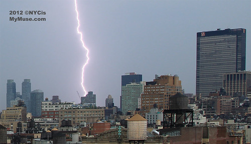 Zzzzzzzzt! Looks like violent lightning storm nails NYC west side construction project