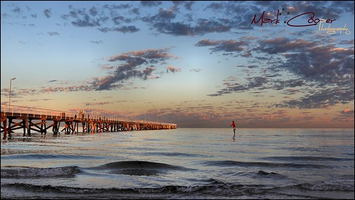 ocean morning light sea beach water up clouds sunrise canon pier stand jetty board south paddle australia adelaide sa semaphore 24105mm 550d ef24105l t2i eos550d markcooperphotography
