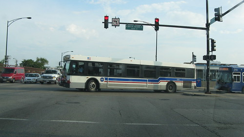 CTA bus at North Harlem and West Bryn Mawr Avenues. Chicago Illinois. July 2012. by Eddie from Chicago