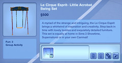 Le Cirque Esprit- Little Acrobat Swing Set