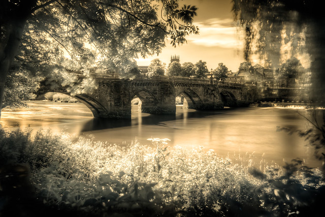 Old Dee Bridge in Chester (InfraRed & HDR)