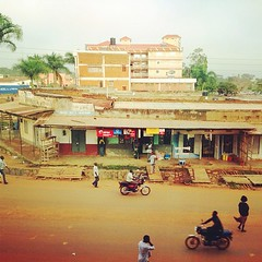 Hotel view in Gulu.