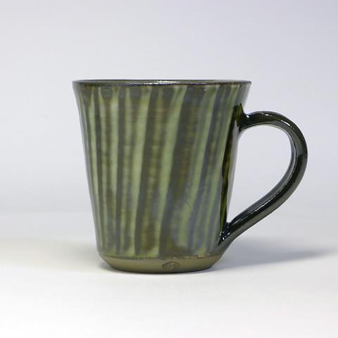 黒木富雄窯 マグカップ/うす青打ち刷毛目