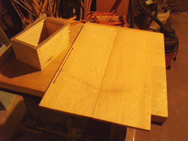 Mahogany for top and bottom panels...