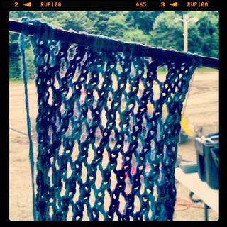 Getting my knit on at the track #knitting #racing #legends #crafting #yarn #create #scarf