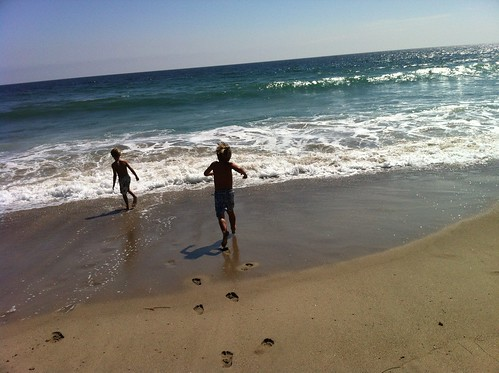 boys playing :: zuma beach