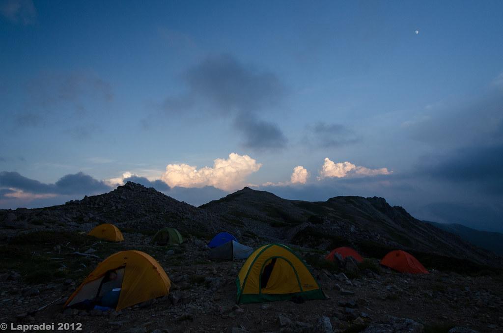 20120728 大天荘のテント場