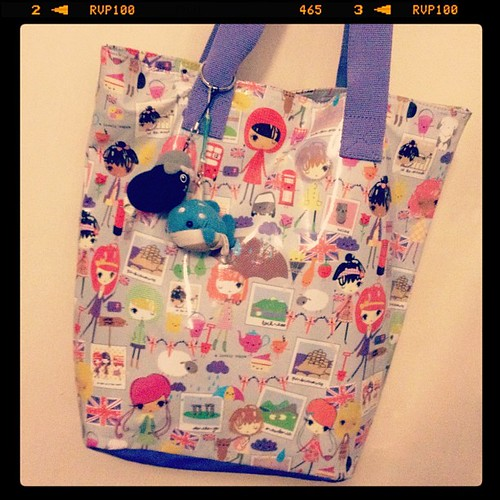 Paperchase bag I got in the sale. Also bag mascots from Japan.