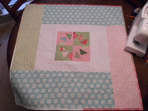 back of HSV baby quilt