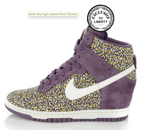 Liberty London Nike wedge floral trainers
