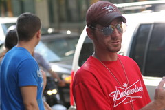 Chicago street photography - Budweiser Guy