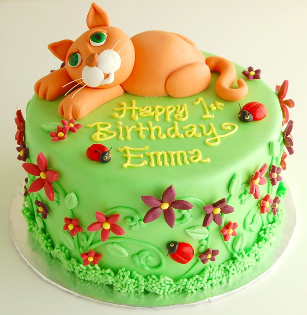 Emma's Kitty Cat Birthday Cake