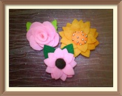 Tutorials : How To Make Felt Flowers - Cara Membuat Bunga Flanel (2