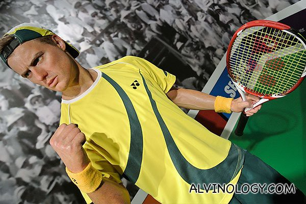 Australia's top tennis star, Lleyton Hewitt, the youngest male ever to be ranked no. 1, at the age of 20
