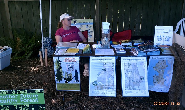 """Julie """"booth babe"""" at Art in the Garden"""