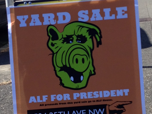 Alf For President Yard Sale