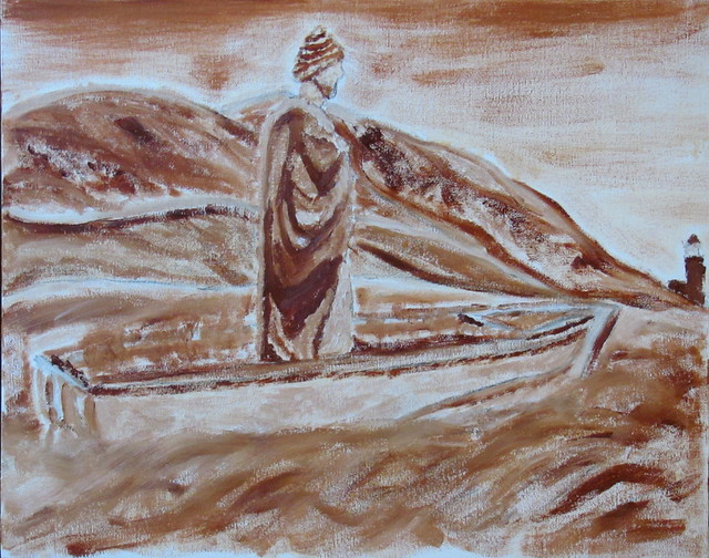 Blessing of the Fisherman Underpainting