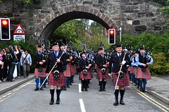 RMM marching through Pitlochry (6)