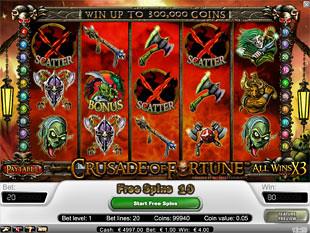 Crusade of Fortune bonus game