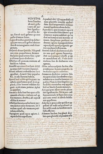 Marginal annotations in Festus, Sextus Pompeius: De verborum significatione