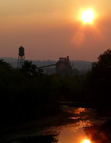 california sunset mill abandoned dusk smoke commute norcal susanville sierrapacific lassencounty susanriver