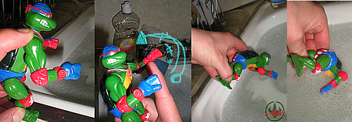 """TURTLE GAMES"" TEENAGE MUTANT NINJA TURTLES :: SUPER-SWIMMIN' RAPH xix /  ..super swim (( 1992 ))"