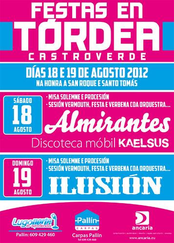 Castroverde 2012 - Festas en Tórdea - cartel