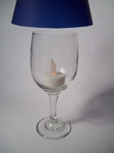 center the battery operated candle