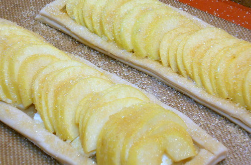 Rustic Fruit Strips Made with Homemade Puff Pastry