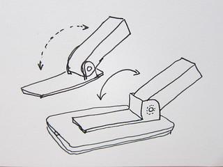 Flip-up spectrometer sketch