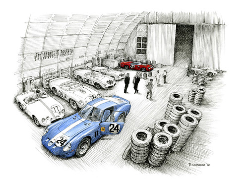 Sebring 1962 - the Night Before by Automobiliart